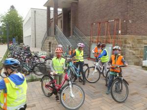 Radfahrausbildung an der Martin-Luther Schule