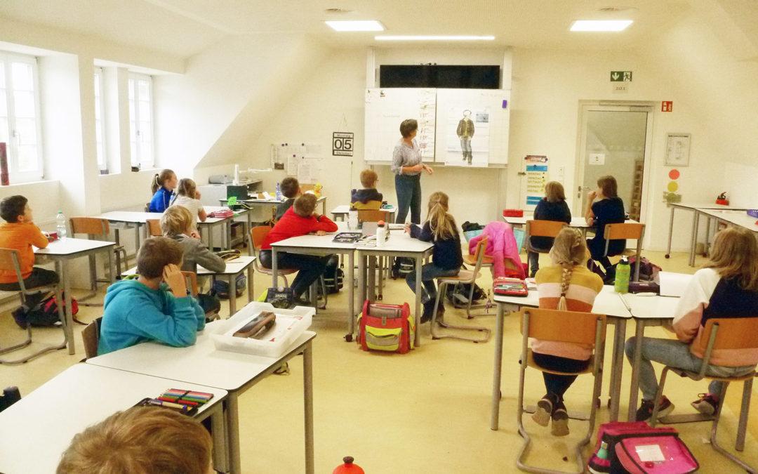 Klasse 2000:  Die 4. Klassen erforschen das menschliche Gehirn