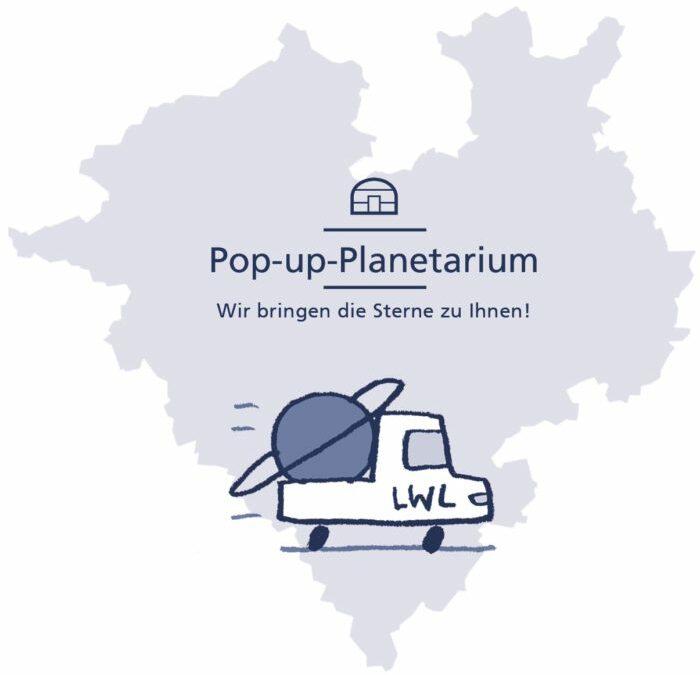 Pop-up-Planetarium an der Martin Luther Schule